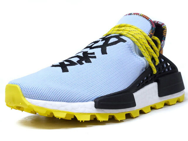 "adidas PW SOLAR HU NMD ""PHARRELL WILLIAMS"" ""INSPIRATION PACK""  SAX/BLK/YEL/WHT (EE7581)"