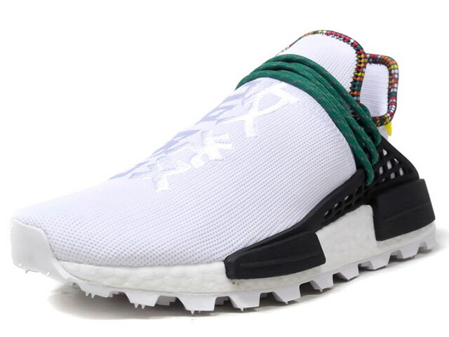 "adidas PW SOLAR HU NMD ""PHARRELL WILLIAMS"" ""INSPIRATION PACK""  WHT/BLK/GRN/YEL (EE7583)"