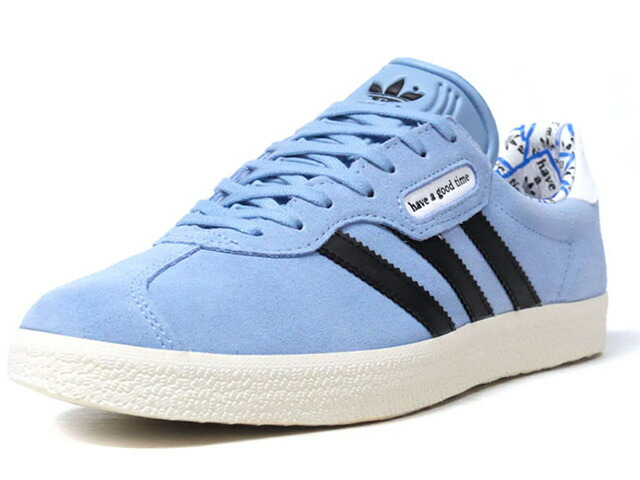 "adidas GAZELLE SUPER HAGT ""have a good time"" ""LIMITED EDITION for CONSORTIUM""  SAX/BLK/BLU/WHT (G54785)"