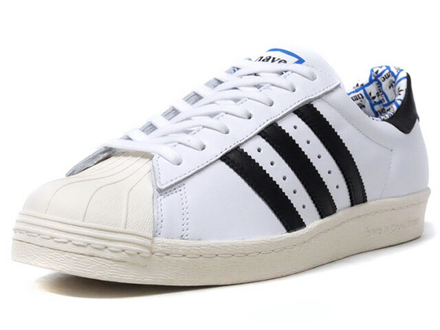 """adidas SUPERSTAR80S HAGT """"have a good time"""" """"LIMITED EDITION for CONSORTIUM""""  WHT/BLK/BLU (G54786)"""