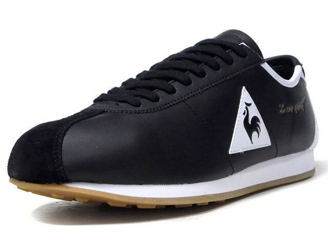 "le coq sportif MONTPELLIER LEATHER ""LIMITED EDITION for LE CLUB""  BLK/WHT/GLD/GUM (QL1NGC07BW)"