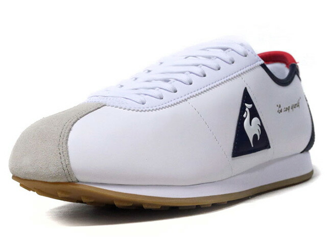 "le coq sportif MONTPELLIER LEATHER ""LIMITED EDITION for LE CLUB""  WHT/NVY/RED/GLD/GUM (QL1NGC07WN)"