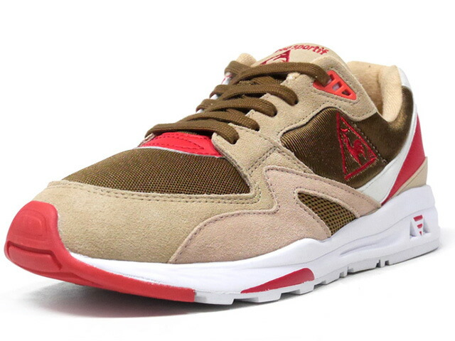 "le coq sportif LCS R 800 GIBIER ""GIBIER"" ""LIMITED EDITION for SELECT""  BGE/BRN/O.WHT/RED (QL1NJC17BO)"