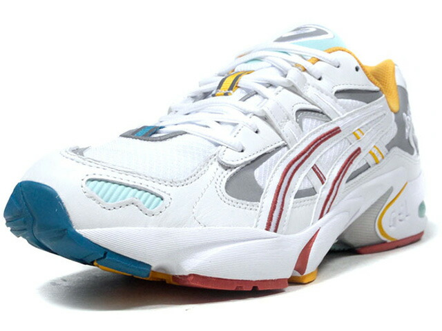 "ASICSTIGER GEL-KAYANO 5 OG ""OASIS COLLECTION"" ""KITH""  WHT/SLV/YEL/E.GRN/T.BLU/RED (1021A213.100)"