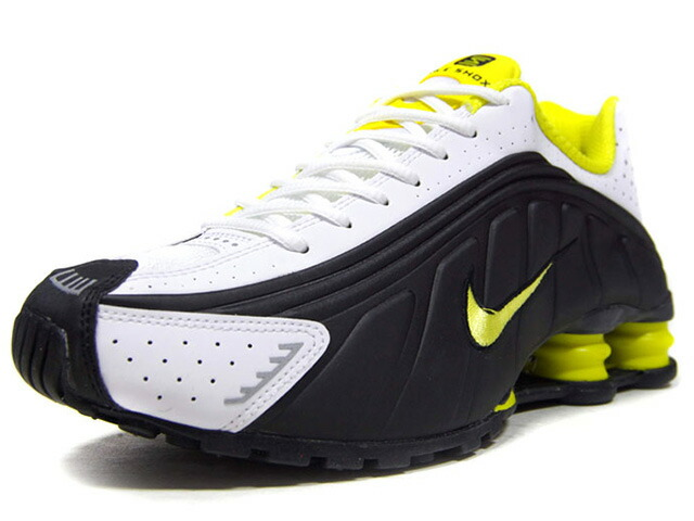 "NIKE SHOX R4 ""LIMITED EDITION for NSW""  BLACK/DYNAMIC YELLOW/WHITE/NOIR/BLANC/JAUNE DINAMIQUE (104265-048)"