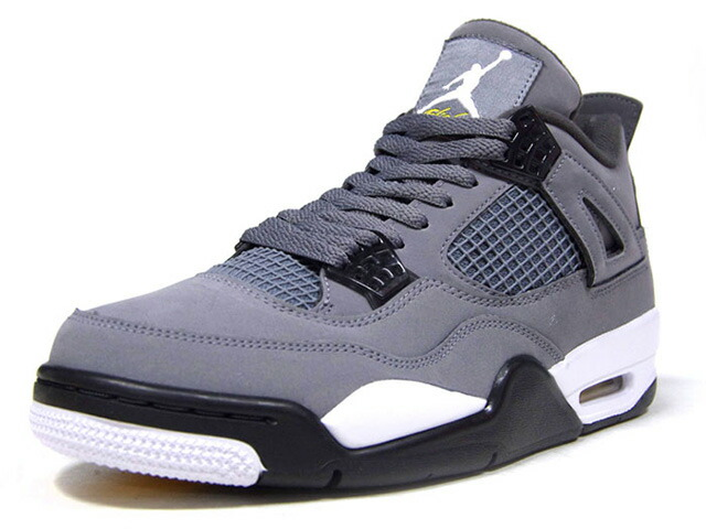 "JORDAN BRAND AIR JORDAN 4 RETRO ""COOL GREY"" ""MICHAEL JORDAN"" ""LIMITED EDITION for JORDAN BRAND""  COOL GREY/CHROME-DARK CHARCOAL/GRIS FRAIS/CHROME (308497-007)"