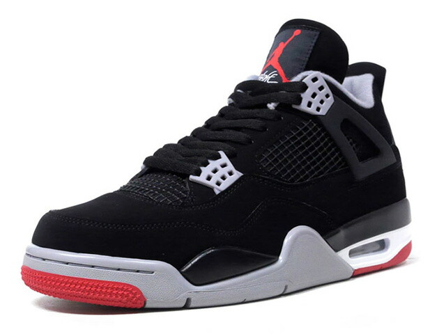 "JORDAN BRAND AIR JORDAN 4 RETRO ""BRED"" ""MICHAEL JORDAN"" ""LIMITED EDITION for JORDAN BRAND""  BLK/GRY/RED (308497-060)"