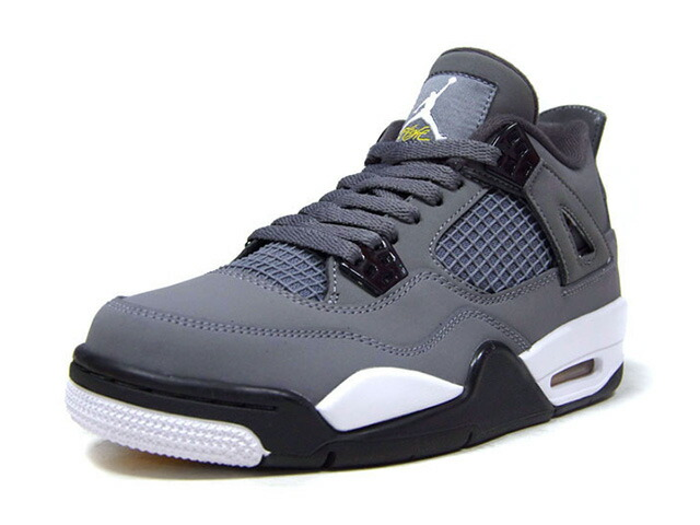 "JORDAN BRAND AIR JORDAN 4 RETRO GS ""COOL GREY"" ""MICHAEL JORDAN"" ""LIMITED EDITION for JORDAN BRAND""  COOL GREY/CHROME/DARK CHARCOAL/GRIS FRAIS/CHROME (408452-007)"