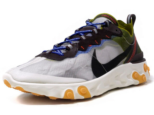"NIKE REACT ELEMENT 87 ""MOSS"" ""LIMITED EDITION for NSW""  O.WHT/BLK/OLV/BRN/ORG/BLU (AQ1090-300)"