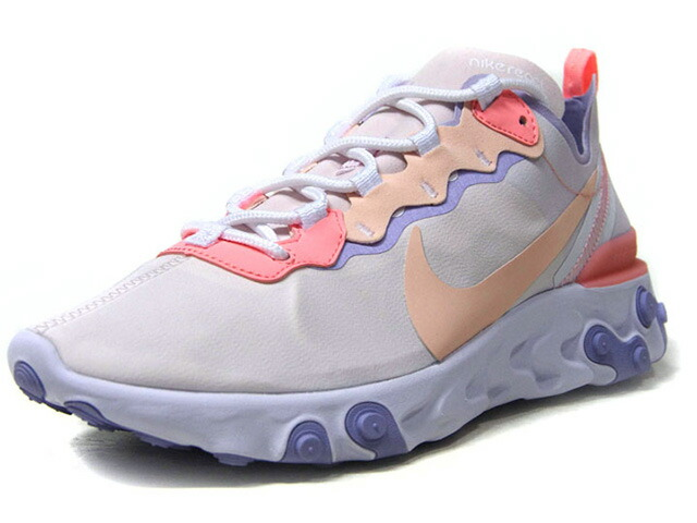"""NIKE (WMNS) REACT ELEMENT 55 """"LIMITED EDITION for NSW""""  O.WHT/BGE/S.PNK/L.PPL/L.GRY (BQ2728-601)"""