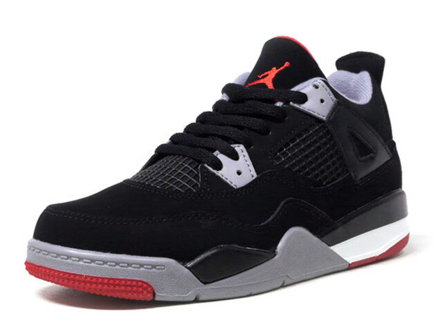 "JORDAN BRAND JORDAN 4 RETRO PS ""BRED"" ""MICHAEL JORDAN"" ""LIMITED EDITION for JORDAN BRAND""  BLK/GRY/RED (BQ7669-060)"