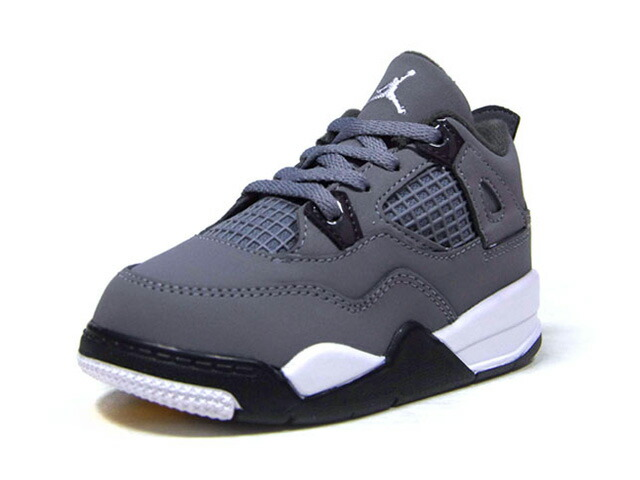 "JORDAN BRAND JORDAN 4 RETRO TD ""COOL GREY"" ""MICHAEL JORDAN"" ""LIMITED EDITION for JORDAN BRAND""  COOL GREY/CHROME/DARK CHARCOAL/GRIS FRAIS/CHROME (BQ7670-007)"