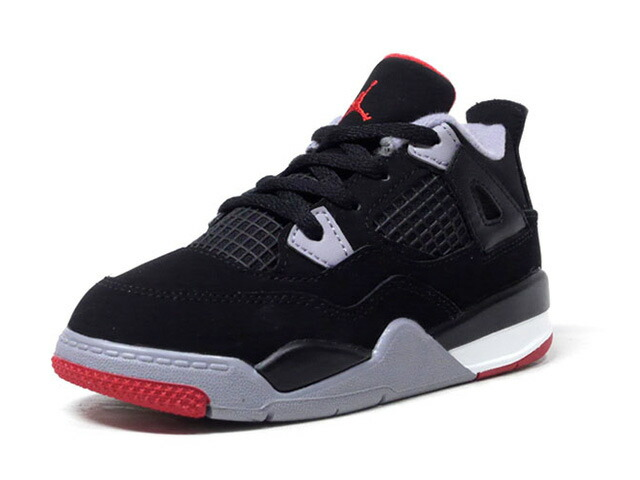 "JORDAN BRAND JORDAN 4 RETRO TD ""BRED"" ""MICHAEL JORDAN"" ""LIMITED EDITION for JORDAN BRAND""  BLK/GRY/RED (BQ7670-060)"