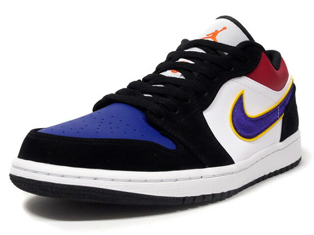 "JORDAN BRAND AIR JORDAN 1 LOW ""MICHAEL JORDAN""  BLACK/FIELD PURPLE-WHITE/NOIR/BLANC/VIOLET TERRAIN (CJ9216-051)"