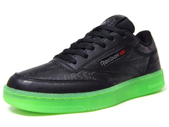 "Reebok CLUB C CW ""CYBERWARS"" ""SNEAKER WARS"" ""LIMITED EDITION""  BLK/RED/GRN (DV6476)"
