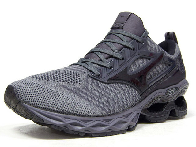 "MIZUNO WAVE CREATION WAVEKNIT ""LIMITED EDITION""  L.GRY/GRY/BLK (J1GC1933)"