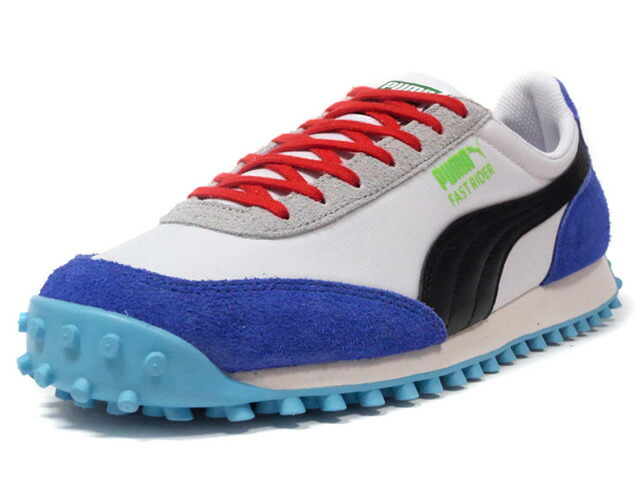 "Puma FAST RIDER RIDE ON ""LIMITED EDITION for LIFESTYLE""  WHT/BLK/BLU/RED/SAX/N.GRN/L.GRY (372837-01)"