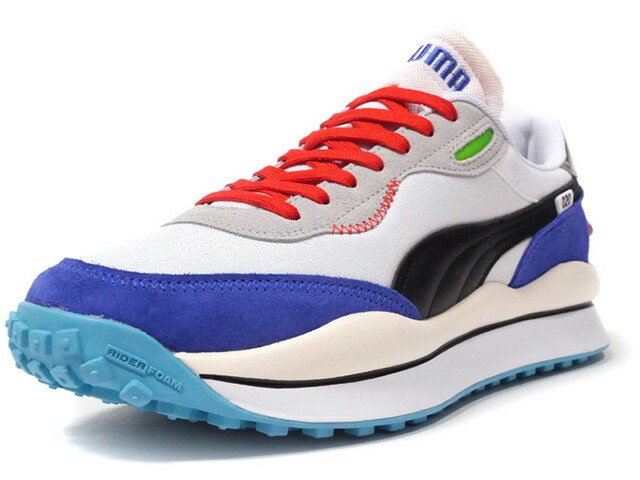 "Puma STYLE RIDER RIDE ON ""LIMITED EDITION for LIFESTYLE""  WHT/BLK/BLU/RED/SAX/N.GRN/L.GRY/SLV (372839-01)"
