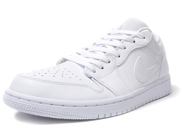 "JORDAN BRAND AIR JORDAN 1 LOW ""MICHAEL JORDAN"" ""LIMITED EDITION for JORDAN BRAND""  WHITE/WHITE/WHITE (553558-126)"