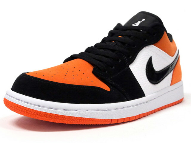 "JORDAN BRAND AIR JORDAN 1 LOW ""SHATTERED BACKBOARD"" ""MICHAEL JORDAN"" ""LIMITED EDITION for JORDAN BRAND""  WHITE/BLACK/STARFISH (553558-128)"