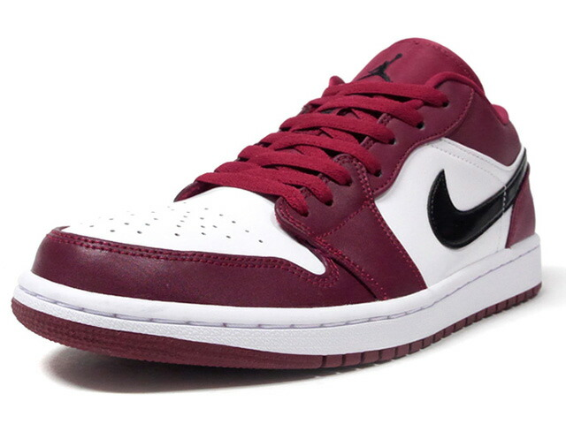 "JORDAN BRAND AIR JORDAN 1 LOW ""NOBLE RED"" ""MICHAEL JORDAN""  NOBLE RED/BLACK/WHITE (553558-604)"
