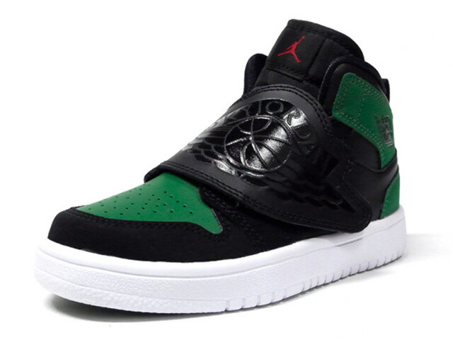 "JORDAN BRAND SKY JORDAN 1 PS ""PINE GREEN"" ""MICHAEL JORDAN""  BLACK/BLACK/PINE GREEN/GYM RED (BQ7197-003)"