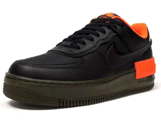 "NIKE (WMNS) AIR FORCE 1 SHADOW SE ""LIMITED EDITION for NSW""  BLACK/BLACK-HYPER CRIMSON-CARGO KHAKI  (CQ3317-001)"