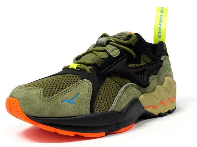"MIZUNO WAVE RIDER 1 ""24Karats x mita sneakers""  OLV/BLK/ORG (D1GD203135)"