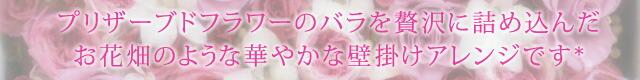 女の子の憧れ、高価なバラをふんだんに使用したお花畑のような可愛らしいピンクの壁掛けの額縁アレンジ♪ シャルマン言葉