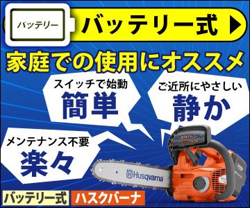 バッテリー式:家庭での使用にオススメ
