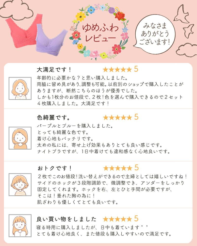 ナイトブラ/ゆめふわブラジャー/レビュー