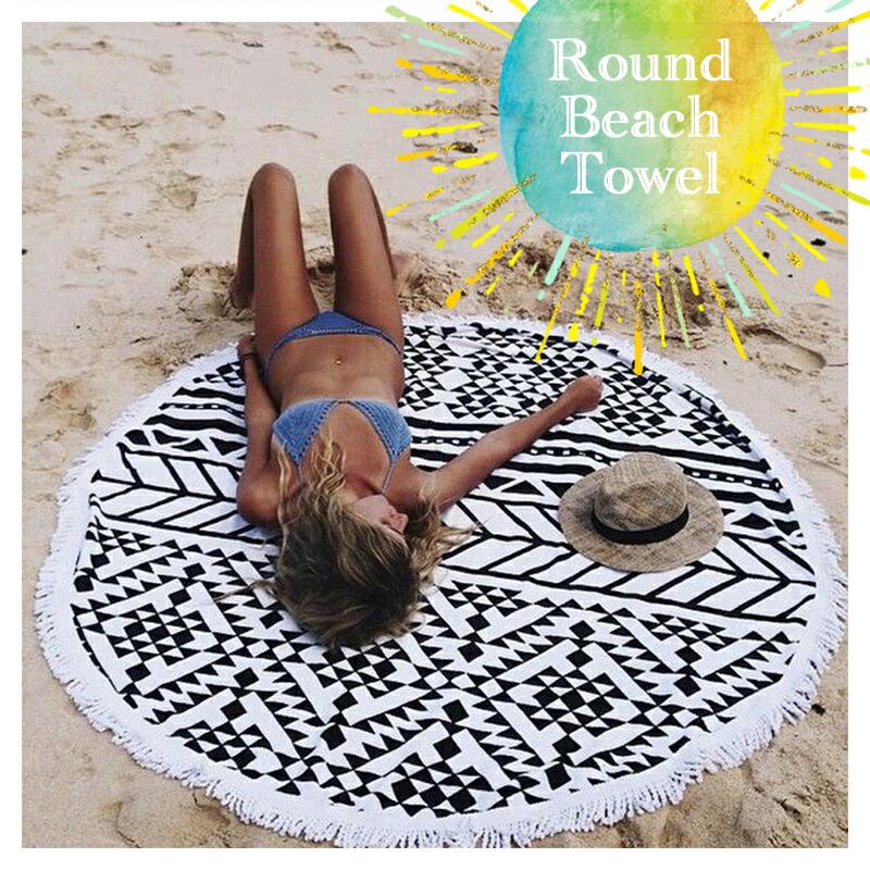 海外で大人気のラウンドビーチタオル