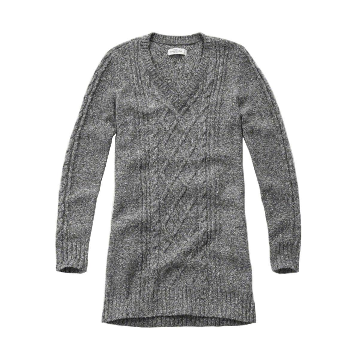アバクロ Abercrombie&Fitch 正規品 レディース Vネックセーター CABLE SWEATER DRESS 159-591-1177-132