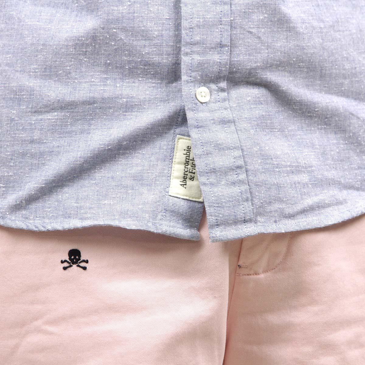 アバクロ Abercrombie&Fitch 正規品 メンズ 長袖シャツ  TEXTURED SHIRT 125-168-2155-222