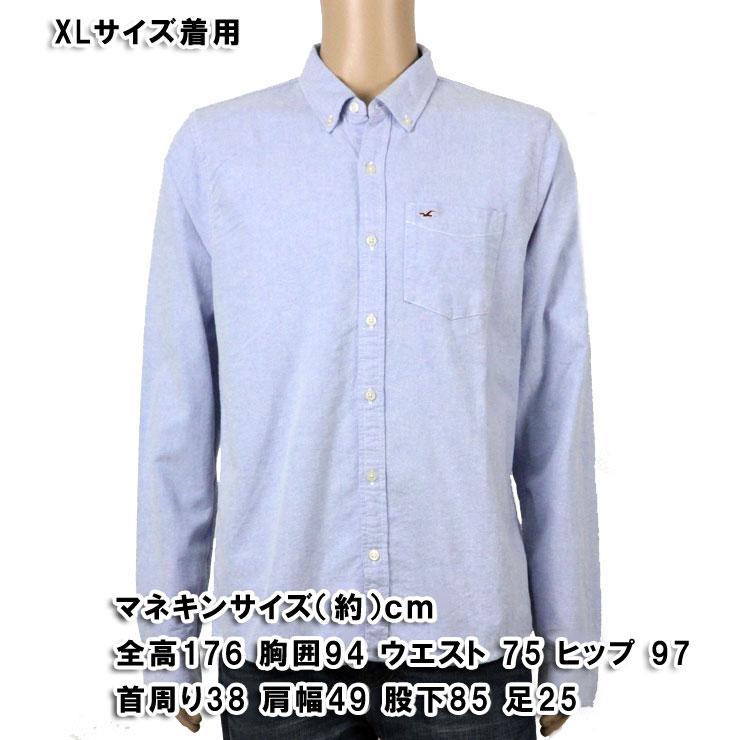 ホリスター HOLLISTER 正規品 メンズ 長袖シャツ Solid Oxford Shirt 325-259-1431-210