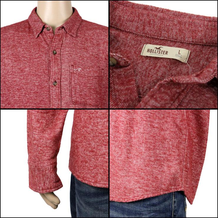 ホリスター HOLLISTER 正規品 メンズ 長袖シャツ Textured Flannel Shirt 325-259-1489-502