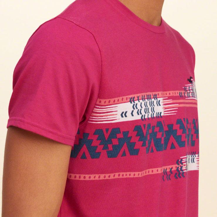 ホリスター HOLLISTER 正規品 メンズ 半袖Tシャツ Patterned Jersey T-Shirt 324-369-1079-618