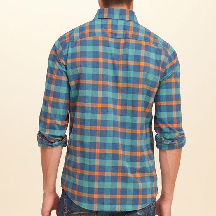 ホリスター HOLLISTER 正規品 メンズ 長袖シャツ  Plaid Poplin Shirt Epic Flex Slim Fit 325-259-1584-308
