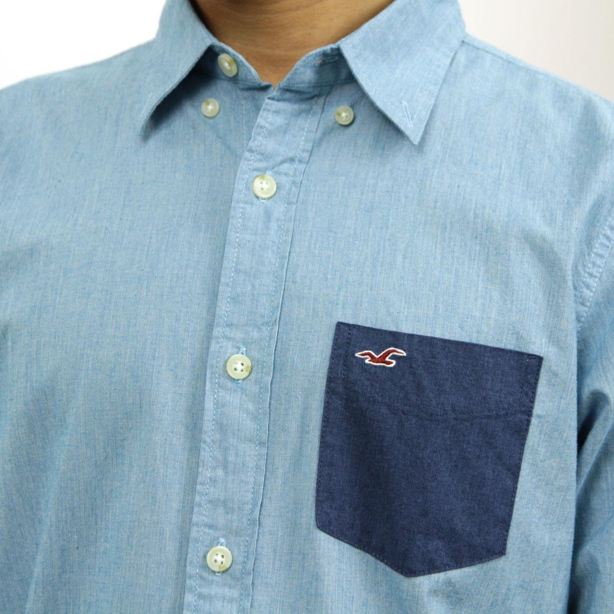 ホリスター HOLLISTER 正規品 メンズ 長袖シャツ  Solid Poplin Shirt Epic Flex 325-259-1586-232