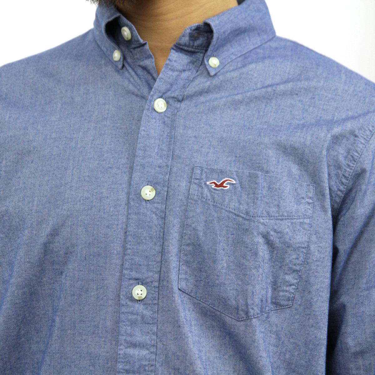 ホリスター HOLLISTER 正規品 メンズ 長袖シャツ  Iconic Poplin Shirt Epic Flex 325-259-1586-222