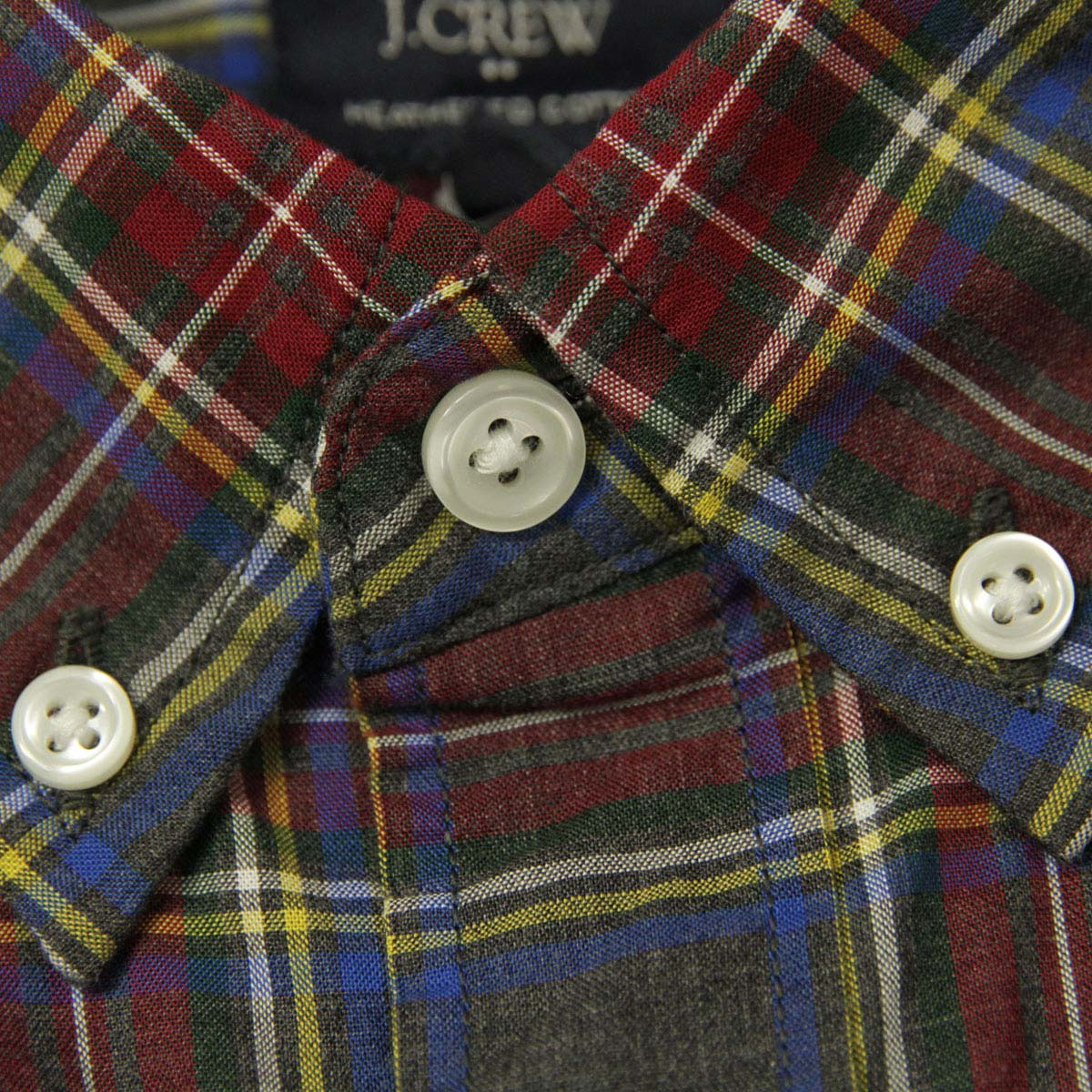 ジェイクルー J.CREW 正規品 メンズ 長袖シャツ  HEATHERED COTTON PLAID SHIRT 47166