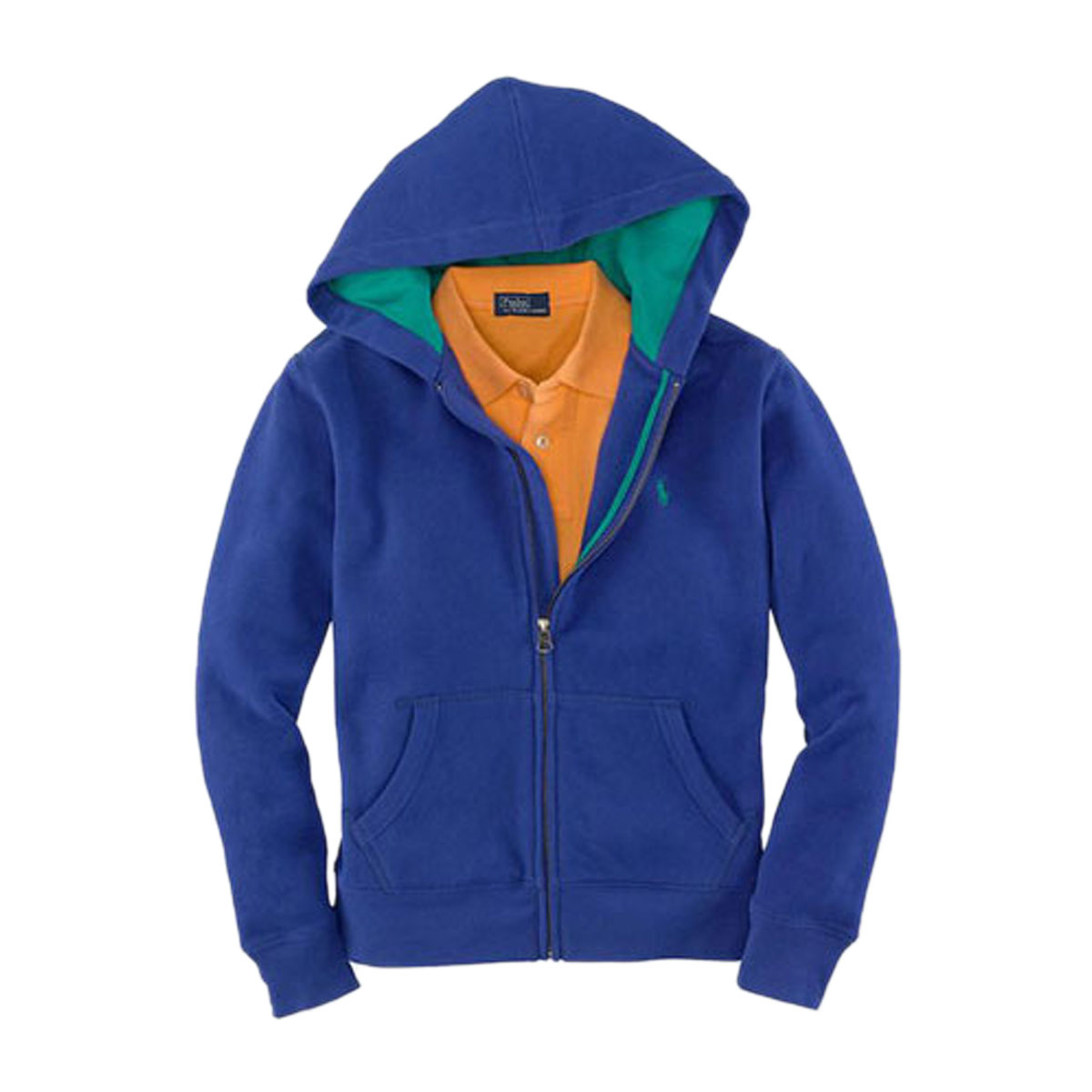 Blue And Orange Polo Hoodie