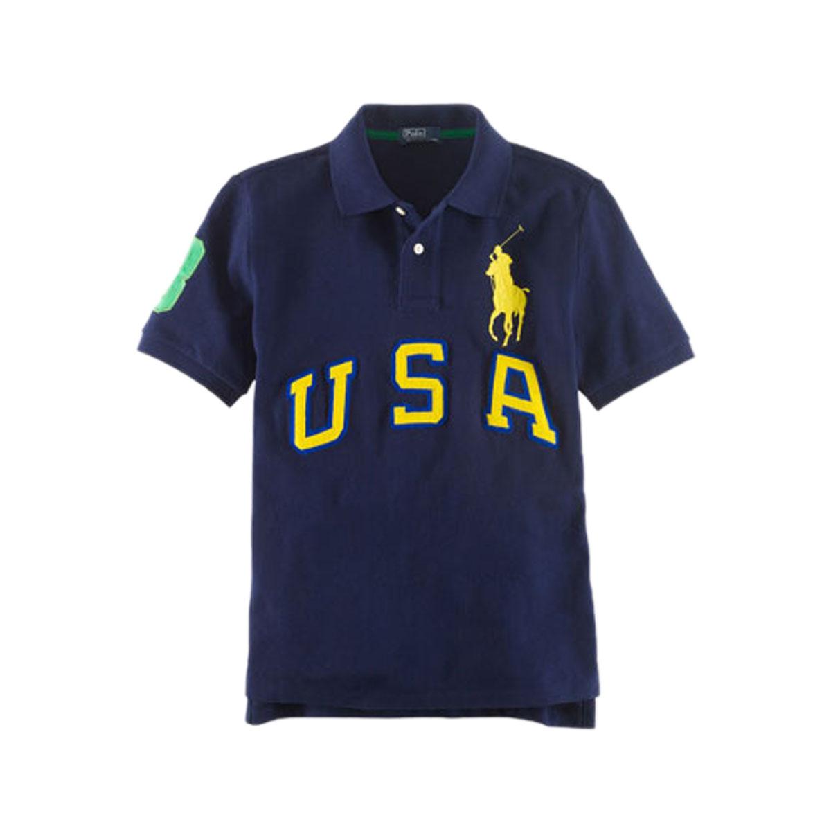 d2c0e832b 30%OFF sale polo Ralph Lauren kids POLO RALPH LAUREN CHILDREN regular  article children s clothes Boys polo shirt USA Big Pony Cotton Polo   19150686 NAVY ...