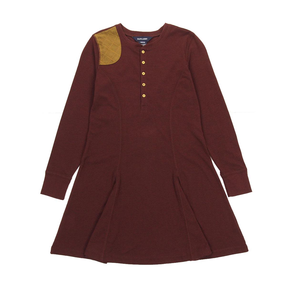 85d38bac 30%OFF sale polo Ralph Lauren kids POLO RALPH LAUREN CHILDREN regular  article children's clothes girls long sleeves dress shirt Henley  Suede-Patch ...
