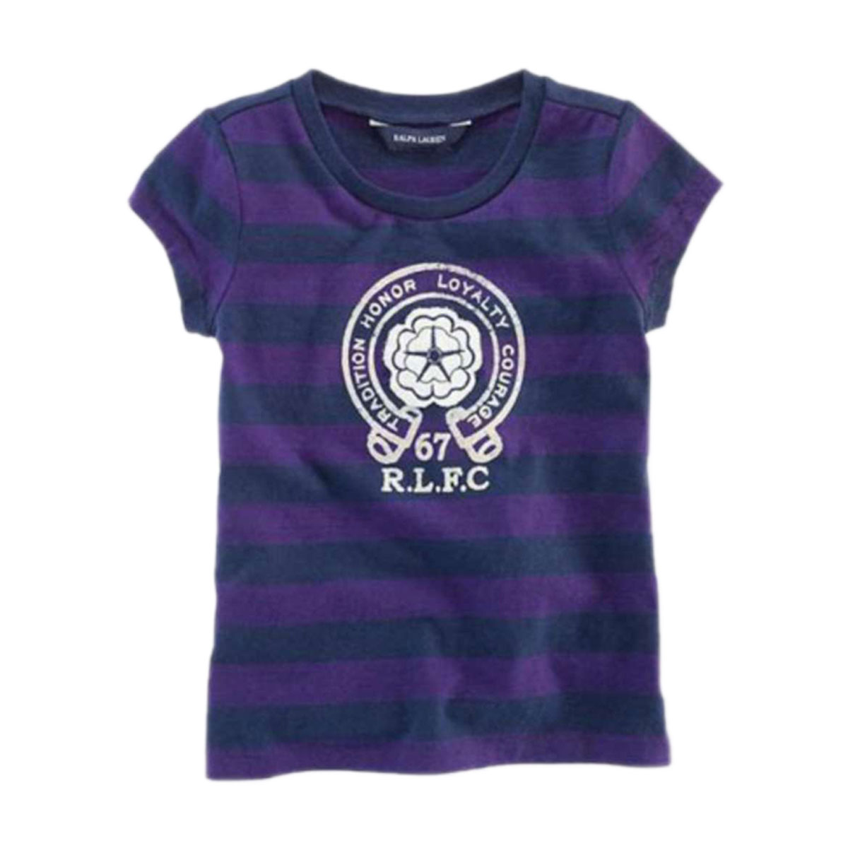 9947be720 25%OFF sale polo Ralph Lauren kids POLO RALPH LAUREN CHILDREN regular  article children s clothes girls short sleeves T-shirt Striped Graphic Tee   13004978 ...