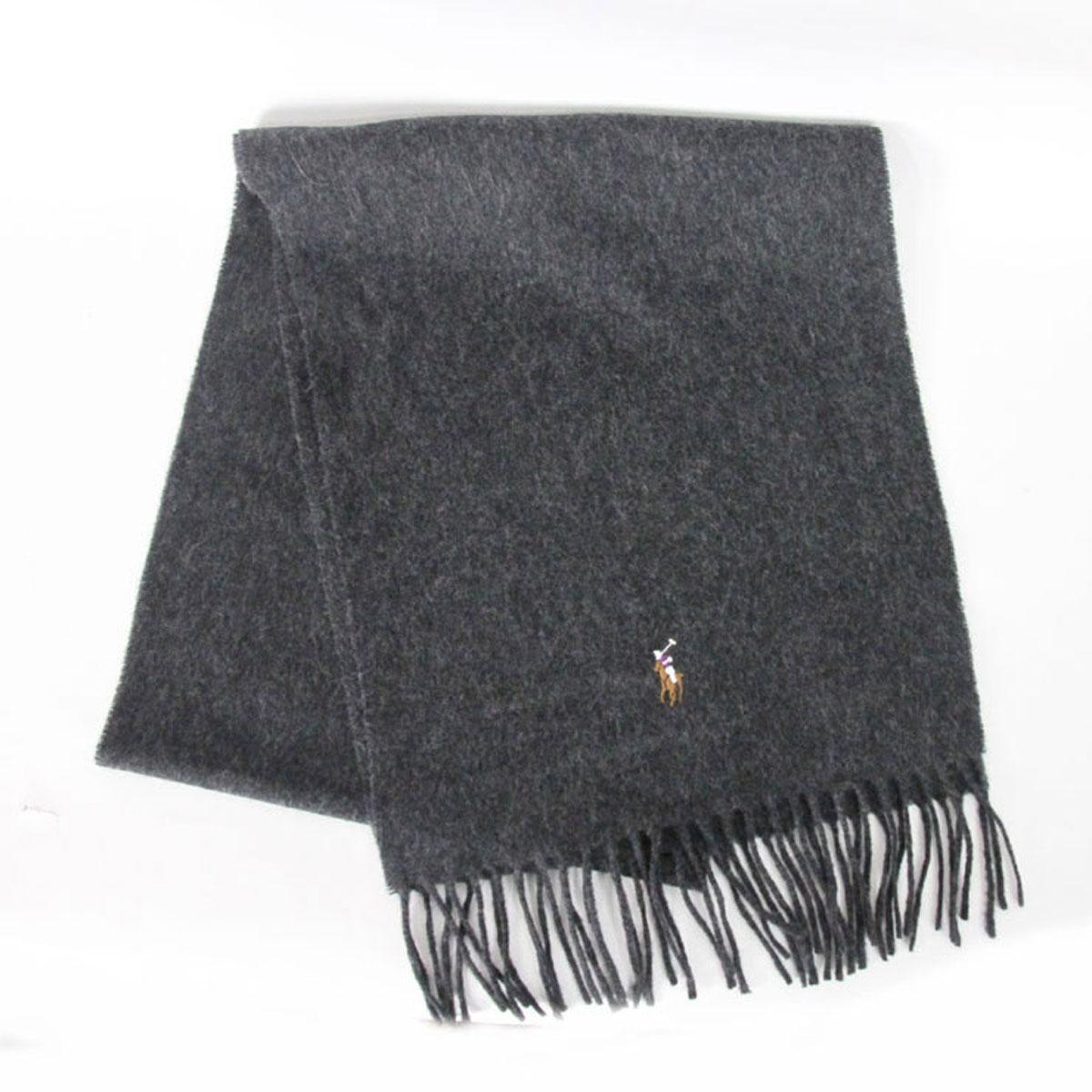 eff5038f3015 ポロラルフローレン POLO RALPH LAUREN 正規品 マフラー Signature Lambswool Scarf ブラック 。
