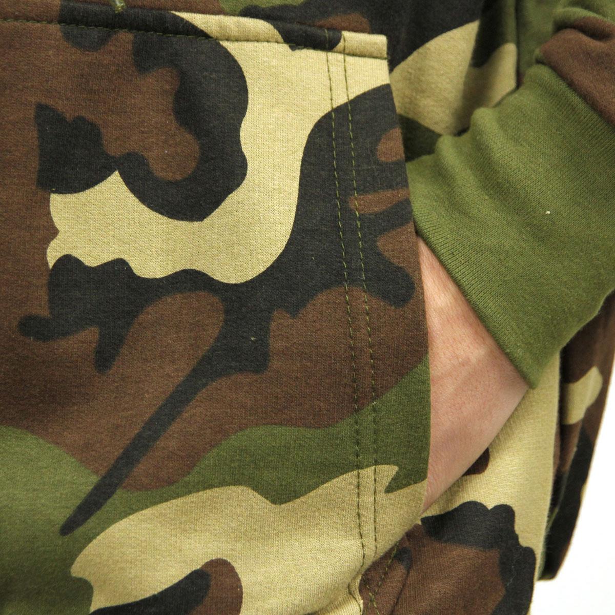 Rothco 6262 Thermal Lined Hooded Sweatshirt Woodland Camo
