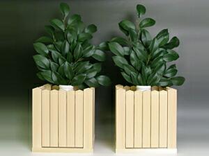 玉垣の使用例 角榊立 榊葉イメージ画像