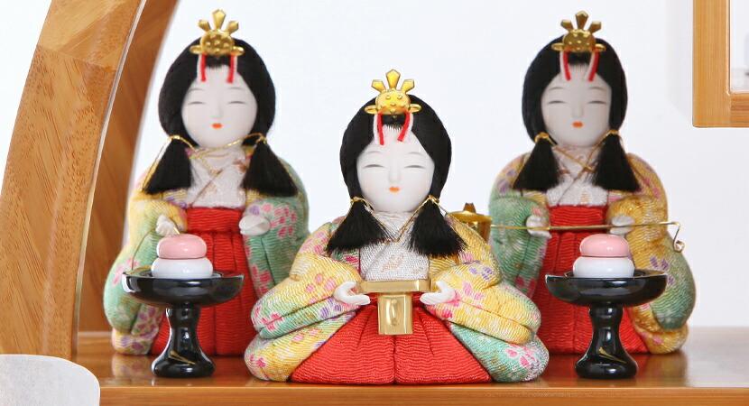 雛人形 雛人形 木目込み ひな人形 雛 一秀 丸窓f 十五人飾り 豪華お道具セット付 送料無料 木目込み雛人形 5 枚目