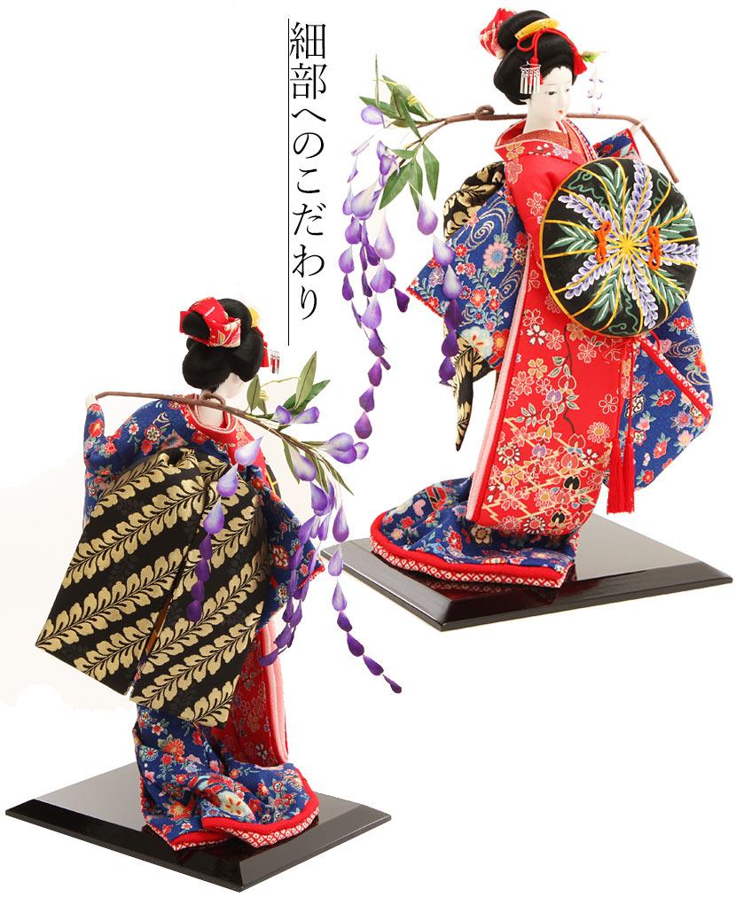日本人形 藤娘 開業祝 開店祝 贈答品 記念品 海外出張 海外からのお客様へ 送料無料